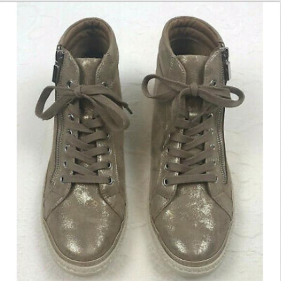 Annaleigh High Top Sneaker 9 Gold